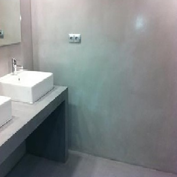 Betonggolv microcement for Peinture carrelage sol effet beton cire