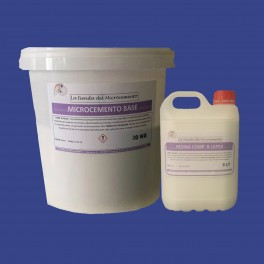 Microcemento base 20 kg + Latex 5 Lt componente B